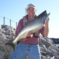 Legend Outdoors guided trips to Lake Michigan Harbors photo 1 - King fish