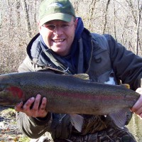 Legend Outdoors guided trips to Lake Michigan Tributaires - Big Steel fish